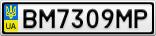 Номерной знак - BM7309MP