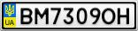 Номерной знак - BM7309OH