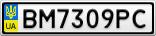 Номерной знак - BM7309PC