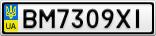 Номерной знак - BM7309XI