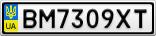 Номерной знак - BM7309XT