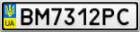 Номерной знак - BM7312PC