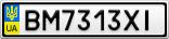 Номерной знак - BM7313XI