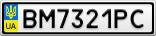 Номерной знак - BM7321PC