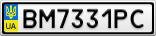 Номерной знак - BM7331PC