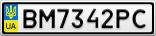 Номерной знак - BM7342PC