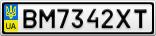 Номерной знак - BM7342XT