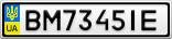 Номерной знак - BM7345IE
