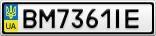 Номерной знак - BM7361IE