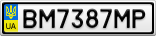 Номерной знак - BM7387MP