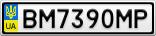 Номерной знак - BM7390MP