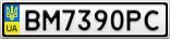 Номерной знак - BM7390PC