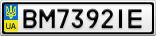 Номерной знак - BM7392IE