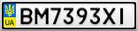 Номерной знак - BM7393XI