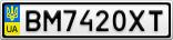 Номерной знак - BM7420XT