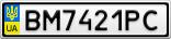 Номерной знак - BM7421PC