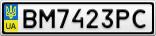 Номерной знак - BM7423PC