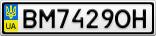 Номерной знак - BM7429OH