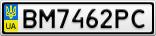 Номерной знак - BM7462PC