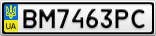 Номерной знак - BM7463PC