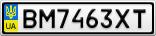 Номерной знак - BM7463XT