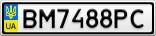 Номерной знак - BM7488PC