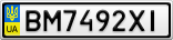 Номерной знак - BM7492XI