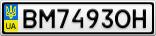 Номерной знак - BM7493OH
