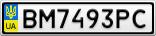 Номерной знак - BM7493PC
