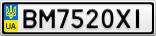 Номерной знак - BM7520XI