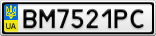 Номерной знак - BM7521PC