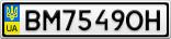 Номерной знак - BM7549OH