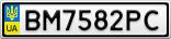 Номерной знак - BM7582PC