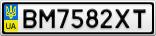 Номерной знак - BM7582XT