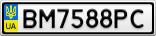 Номерной знак - BM7588PC