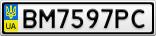 Номерной знак - BM7597PC