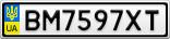 Номерной знак - BM7597XT