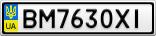 Номерной знак - BM7630XI