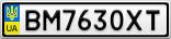 Номерной знак - BM7630XT
