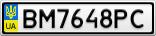 Номерной знак - BM7648PC