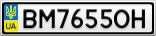 Номерной знак - BM7655OH