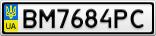 Номерной знак - BM7684PC