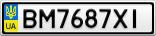 Номерной знак - BM7687XI