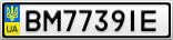 Номерной знак - BM7739IE