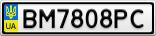 Номерной знак - BM7808PC