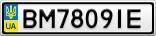 Номерной знак - BM7809IE
