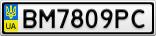 Номерной знак - BM7809PC