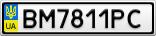 Номерной знак - BM7811PC