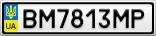 Номерной знак - BM7813MP