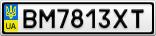 Номерной знак - BM7813XT